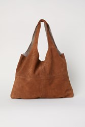 Handm Large Suede Shopper Orange