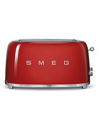 Smeg Retostyle 4 Slice Toaster Red