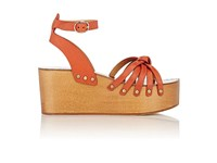 Etoile Isabel Marant Women's Zia Platform Wedge Sandals Orange