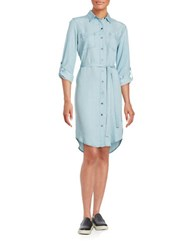 Lord And Taylor Chambray Shirtdress Ice Wash