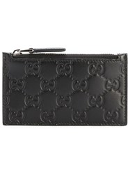 Guccissima Coin Pouch Men Leather One Size Black