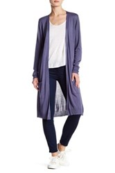 Joseph A Long Pocket Duster Cardigan Purple