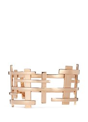 Dauphin 18K Rose Gold Openwork Lattice Cuff Metallic