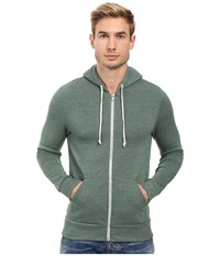 Alternative Apparel Rocky Zip Hoodie Eco True Dusty Pine Men's Sweatshirt Green