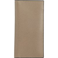 Valextra Vertical Wallet Beige Tan
