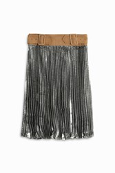 3.1 Phillip Lim Metallic Pleated Skirt Silver