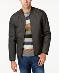 G.H. Bass And Co. Men's Reversible Bomber Jacket Dark Olive