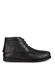 Saint Laurent Fringed Leather Flat Ankle Boots
