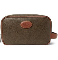 Mulberry Pebble Grain Leather Wash Bag Green