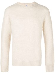 Aspesi Crew Neck Brushed Sweater Nude And Neutrals