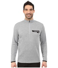 Adidas Sport Performance 1 2 Zip Sweater Mid Grey White Men's Sweater Gray