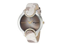 Salvatore Ferragamo Signature Fiz06 0015 Two Tone Stainless Steel Yellow Gold Beige Watches