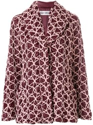 Issey Miyake Vintage Puffer Jacket With Surface Design Pink And Purple