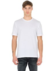 Brooks Brothers Cotton Jersey T Shirt With Logo Detail
