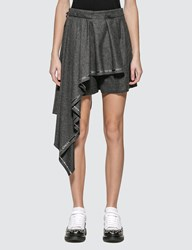 Alexander Mcqueen Wool Shorts With Pleated Panel Grey