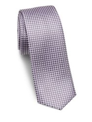 Hugo Boss Dotted Silk Tie Purple