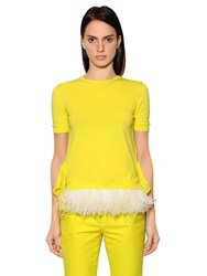 N 21 Feathers Embellished Cotton Knit Shirt