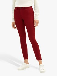 Jaeger Mid Rise Skinny Jeans Red Denim