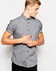 New Look Short Sleeve Shirt Grey