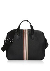 Paul Smith Leather Messenger Bag Black