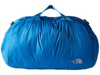 The North Face Flyweight Duffel Banff Blue Metallic Silver Duffel Bags