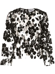 Ashley Williams Sheer Floral Embroidered Blouse 60
