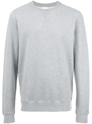 Sunspel Crew Neck Sweatshirt Grey