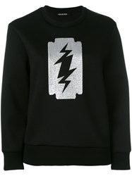 Neil Barrett Printed Sweatshirt Black