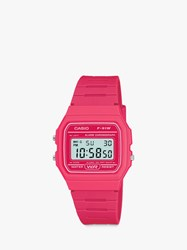 Casio Unisex Core Digital Chronograph Resin Strap Watch Pink F 91Wc 4Aef Ss