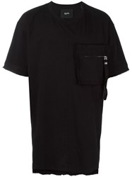 Blood Brother Zipped Fuzzy Pocket T Shirt Black