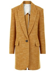 Etoile Isabel Marant Amber Wool Blend Iron Boyfriend Coat Yellow
