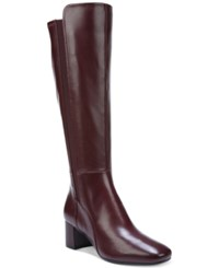 Naturalizer Naples Wide Calf Dress Boots Women's Shoes Cherry