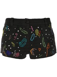 Andrea Bogosian Embellished Shorts Black
