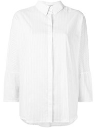 Martha Medeiros Striped Janaina Shirt White