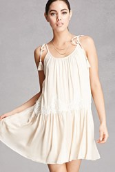 Forever 21 Lush Lace Trim Swing Dress