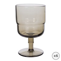 Amara Drop Wine Glasses Set Of 6 Cognac