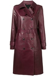 Closed Double Breasted Coat Red
