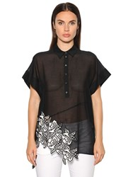 N 21 Cotton Voile Top W Macrame Lace Inserts