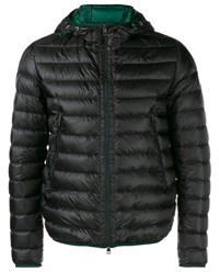 Moncler Quilted Feather Down Jacket Black Green