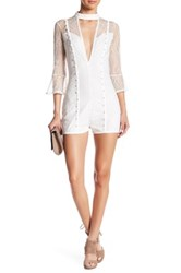 Wow Couture Lace Romper White
