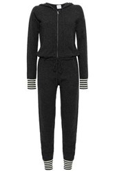 7b6444961710 Madeleine Thompson Striped Wool And Cashmere Blend Hooded Jumpsuit Charcoal