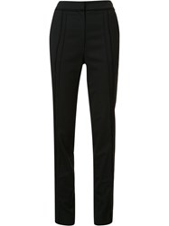 Jason Wu Frayed Panelled Tailored Trousers Black