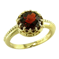 London Road 9Ct Gold Coronet Ring Garnet