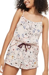 Topshop Sketchy Floral Camisole Pink Multi