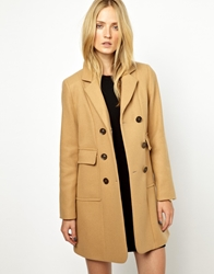 Whistles Lexi Double Breasted Coat Camel