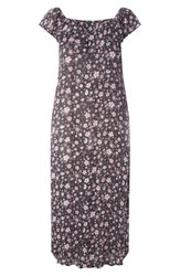 Evans Plus Size Women's Ditsy Floral Convertible Maxi Dress Dark Multi