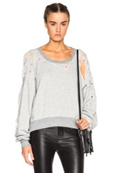 Unravel Fwrd Exclusive Destroyed Oversize Crewneck Sweater In Gray