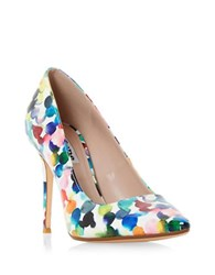 Dune Blosome Patent Faux Leather Pumps Multi Colored