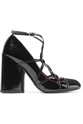 Marc Jacobs Carrie Ghillie Lace Up Patent Leather Pumps Black