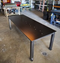 John Beck Paper And Steel Natural Black Steel Table 1